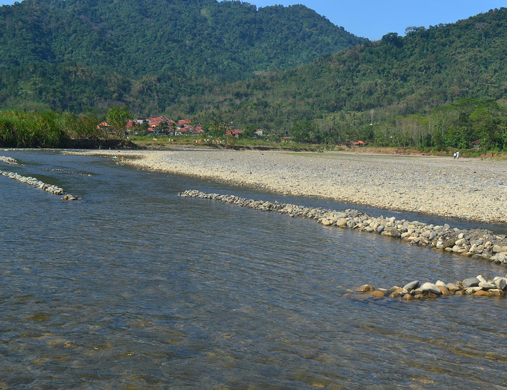 Cisanggarung is a river that passes through several villages in Kuningan
