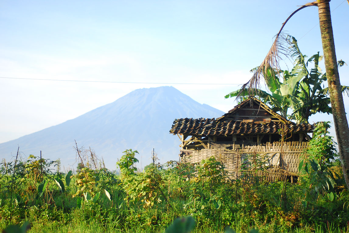 Mount Slamet or Gunung Slamet is an active stratovolcano in the Purbalingga Regency of Central Java, Indonesia